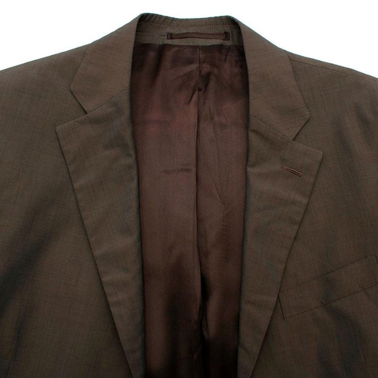 Prada Taupe Cotton Single Breasted Blazer - 48R In Excellent Condition For Sale In London, GB