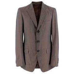 Prada Taupe Cotton Single Breasted Blazer - 48R