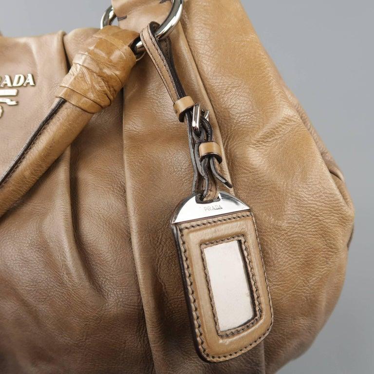Prada Taupe Ombre Leather Degrade Blond Mordor Glace Handbag 4rEPB