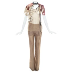 Prada Taupe silk organza fairy pant suit, ss 2008