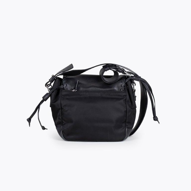 Black Prada Tessuto Calf Crossbody Bag