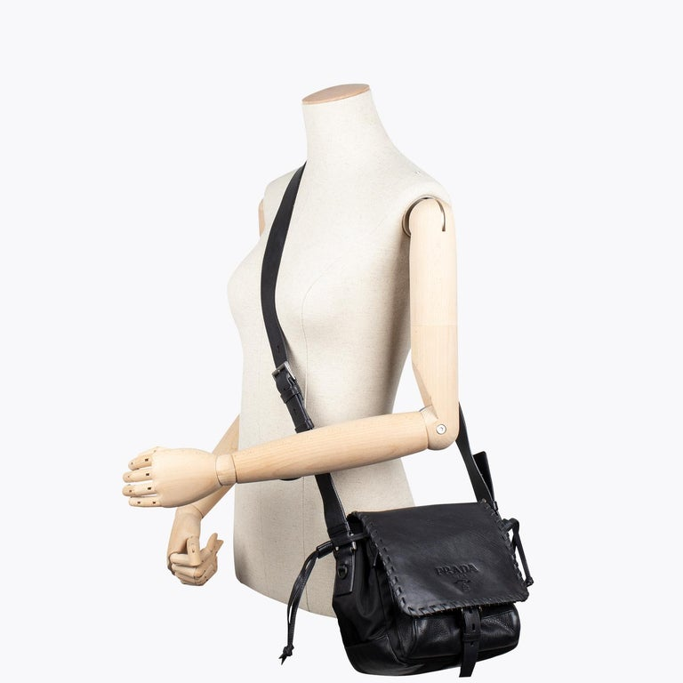 Women's Prada Tessuto Calf Crossbody Bag