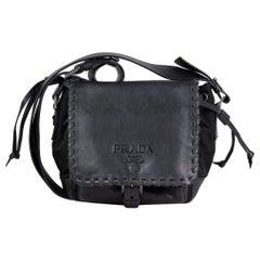 Prada Tessuto Calf Crossbody Bag