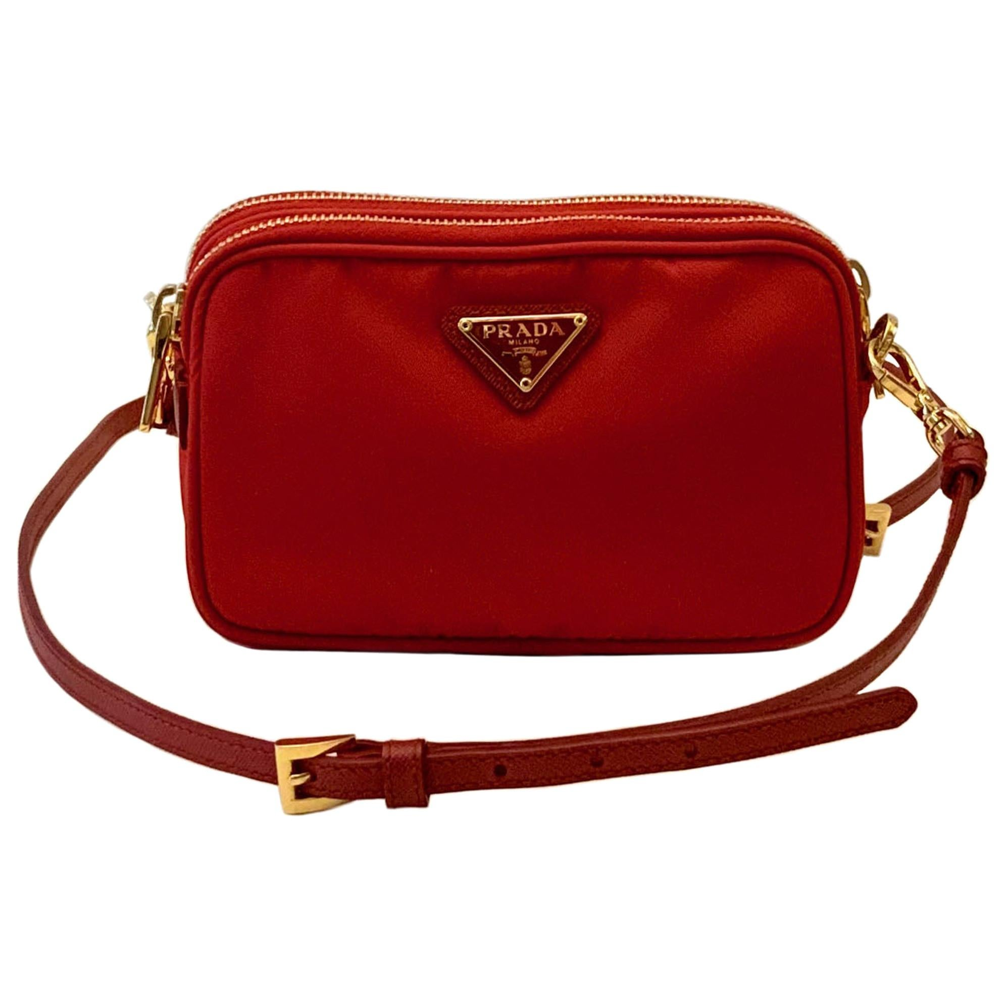 Prada Tessuto Nylon Mini Camera Crossbody Bag