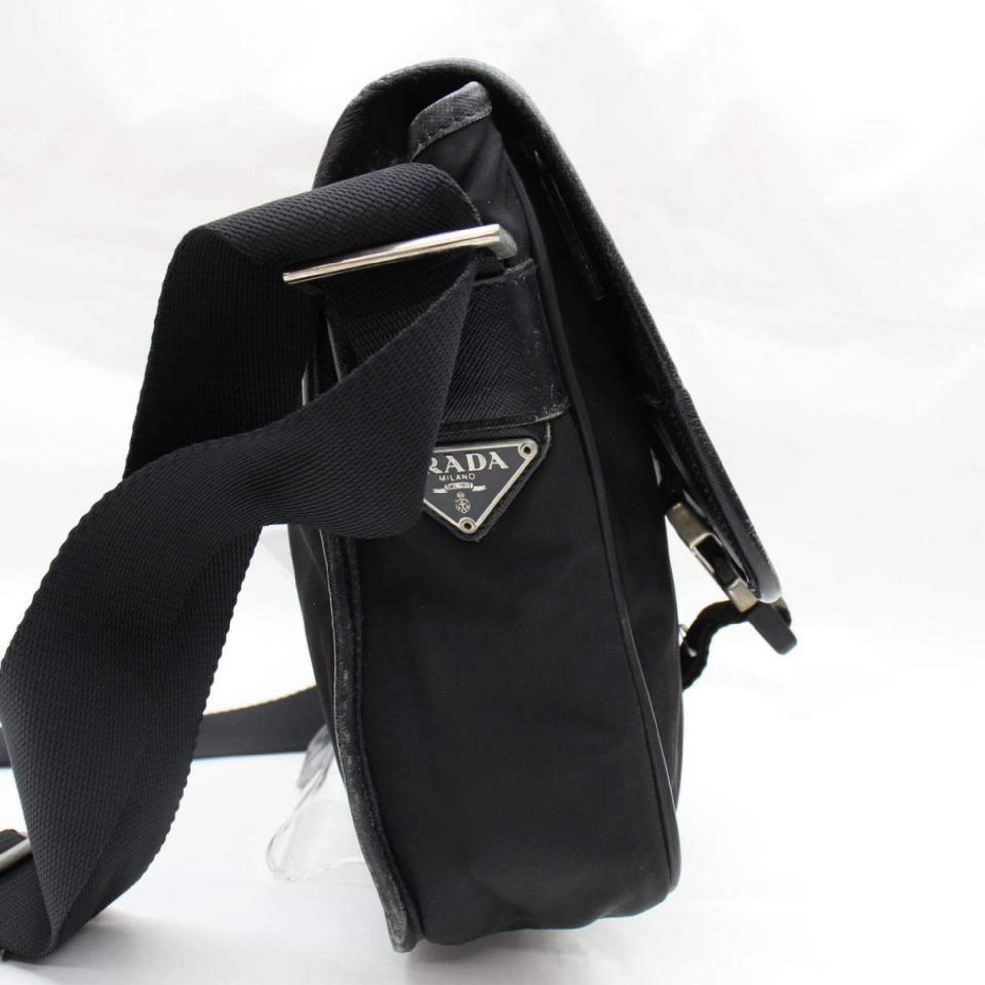 ad465d7ce9b3 Prada Tessuto Pack 867943 Black Nylon Cross Body Bag For Sale at 1stdibs