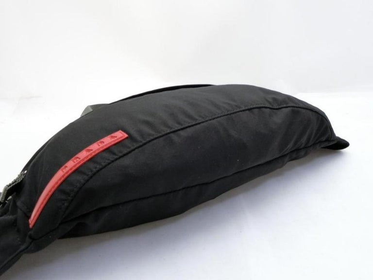 520b120e77b8 Prada Tessuto Sports Fanny Pack Waist Pouch 231475 Black Nylon Cross Body  Bag For Sale 4