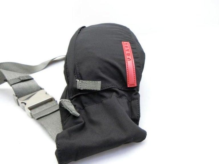 14771eecd658 Prada Tessuto Sports Fanny Pack Waist Pouch 231475 Black Nylon Cross Body  Bag For Sale 5