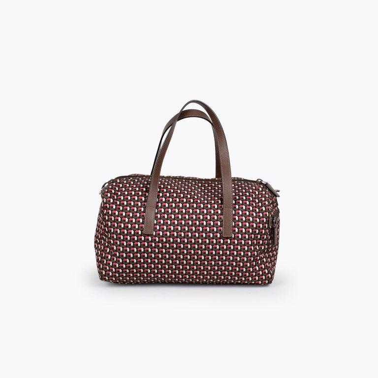 Black Prada Tessuto Stampat Bag For Sale