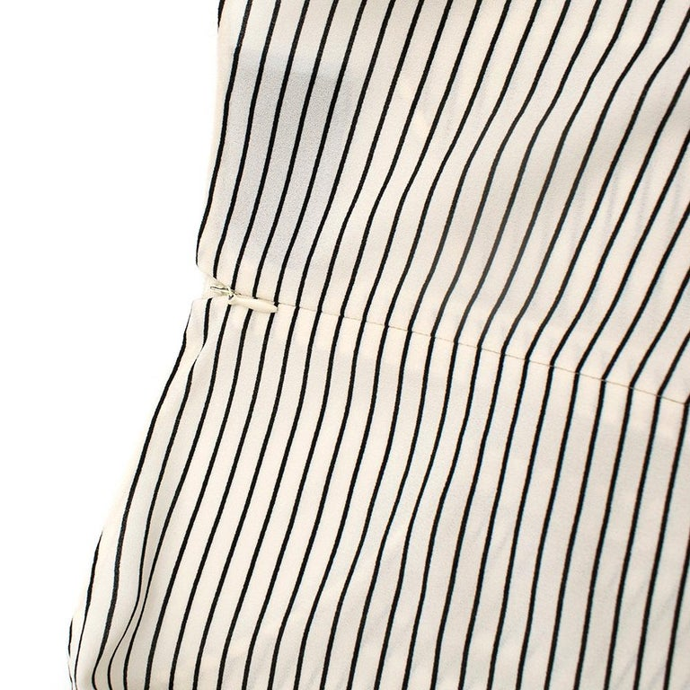 Women's Prada Tie-Waist Striped Crepe Dress IT 40 For Sale