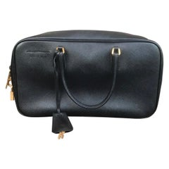 Prada Top Handle Bag W/ Lock & Key
