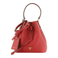 Prada Top Handle Bucket Bag Saffiano Leather Small