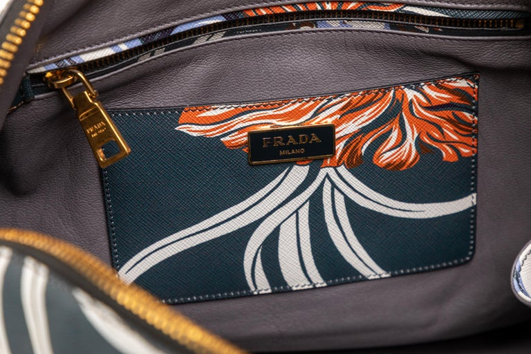 Prada Top Handle Hawaiian Print Saffiano Leather Bag, 2014 For Sale 1