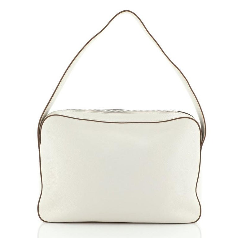 Women's or Men's Prada Top Zip Shoulder Bag Vitello Daino Medium For Sale