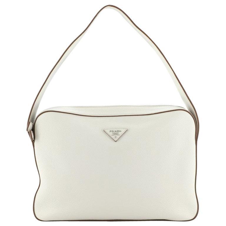 Prada Top Zip Shoulder Bag Vitello Daino Medium For Sale