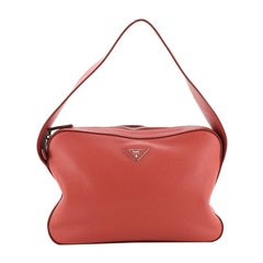 Prada Top Zip Shoulder Bag Vitello Daino Medium