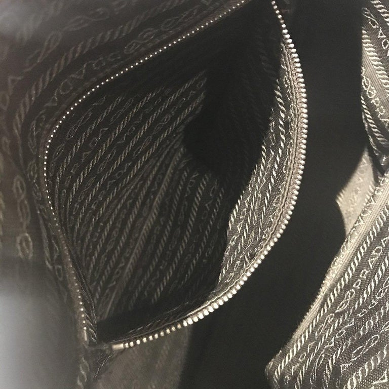Prada Trapazoid Ostrich Leather Handbag   For Sale 7