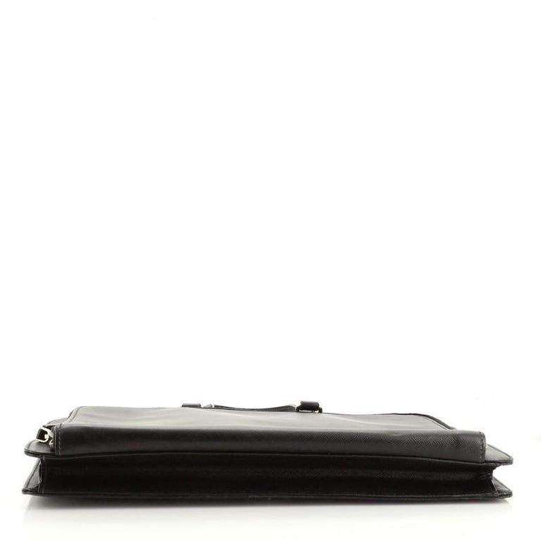 Prada Travel Briefcase Saffiano Leather In Good Condition In New York, NY