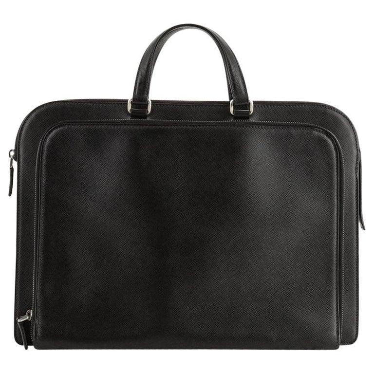 Prada Travel Briefcase Saffiano Leather