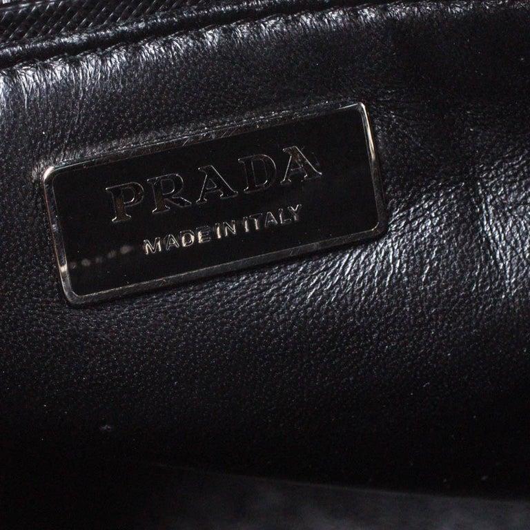 Prada Tri Color Striped Saffiano Leather Small Double Zip Tote For Sale 3