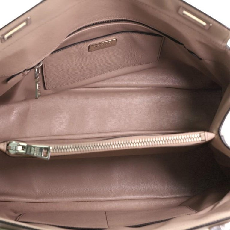 Prada Turnlock Cuir Twin Tote Saffiano Leather Medium For Sale 1