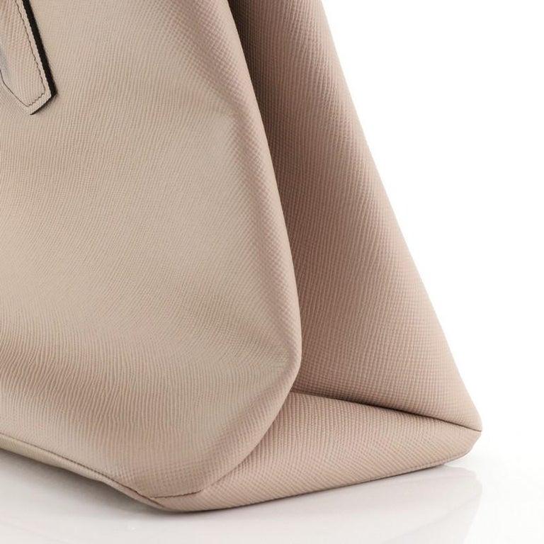 Prada Turnlock Cuir Twin Tote Saffiano Leather Medium For Sale 5