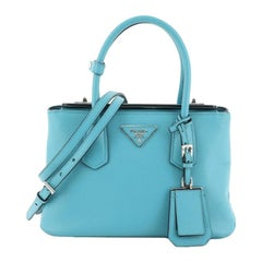 Prada Turnlock Cuir Twin Tote Saffiano Leather Mini