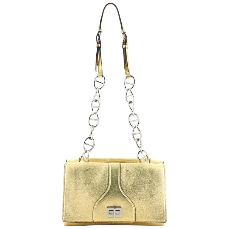 Prada Turnlock Flap Chain Bag Leather Small For Sale
