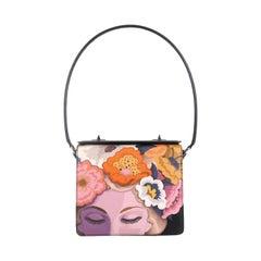 Prada Turnlock Shoulder Bag Printed Saffiano Small