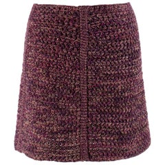 Prada Tweed Wool Knit Mini Skirt SIZE - Size US 0-2