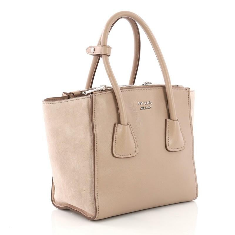 f5f23d688995 Prada Twin Pocket Tote Glace Calf and Suede Mini For Sale at 1stdibs