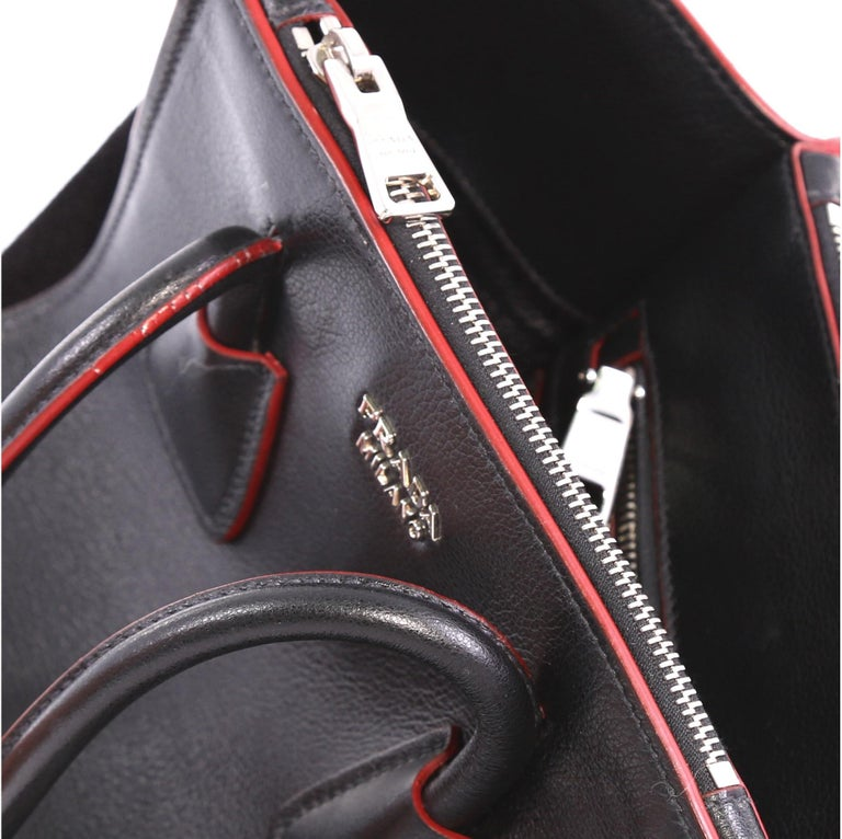 bcb5ff17a920 Prada Twin Pocket Tote Glace Calf and Suede Mini For Sale 1