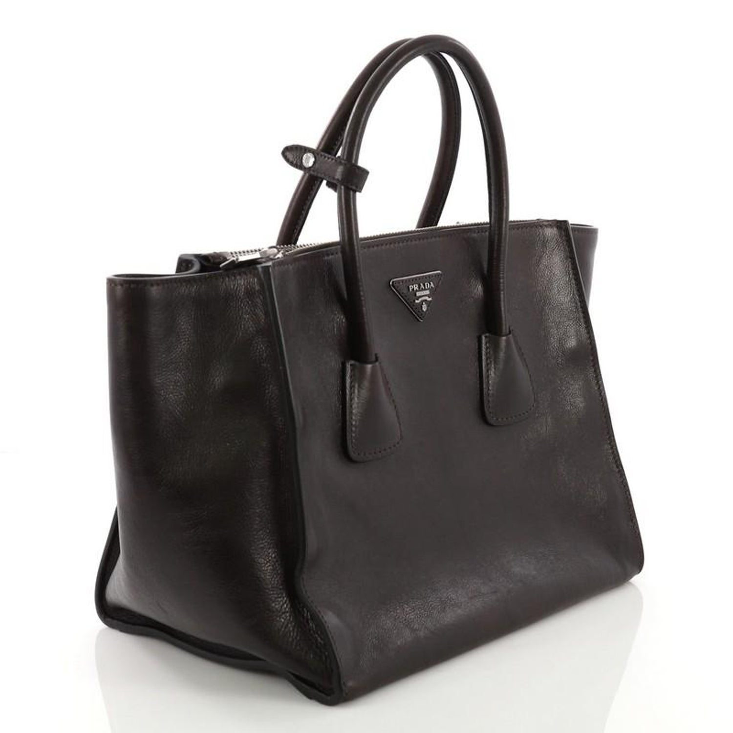 20c8fa654566ce Prada Twin Pocket Tote Glace Calf Small at 1stdibs