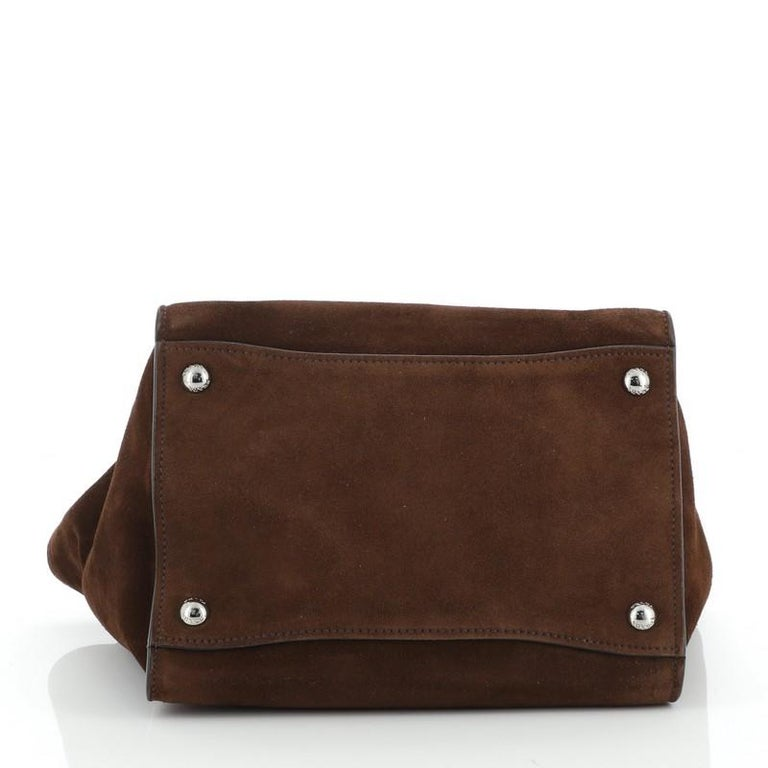 Women's or Men's Prada Twin Pocket Tote Suede Small For Sale