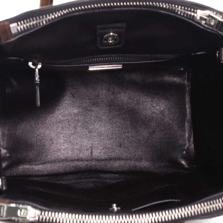 Prada Twin Pocket Tote Suede Small For Sale 1