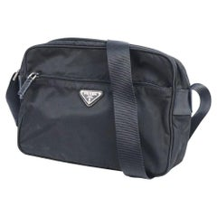 PRADA unisex shoulder bag black