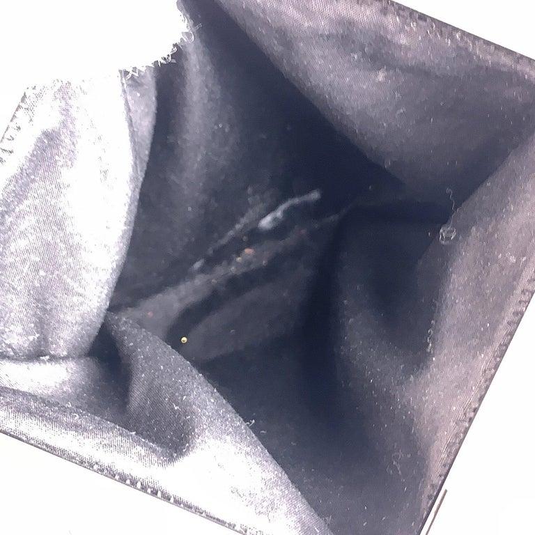 Prada Vintage Black Velvet Small Evening Bag Frame Shoulder Bag 5