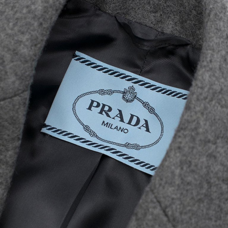 Women's Prada Virgin Wool Single Breasted Wool Cape - New Season 36 UK4 For Sale