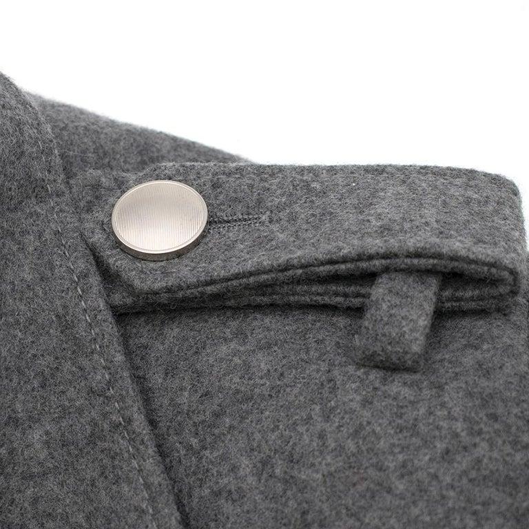 Prada Virgin Wool Single Breasted Wool Cape - New Season 36 UK4 For Sale 2