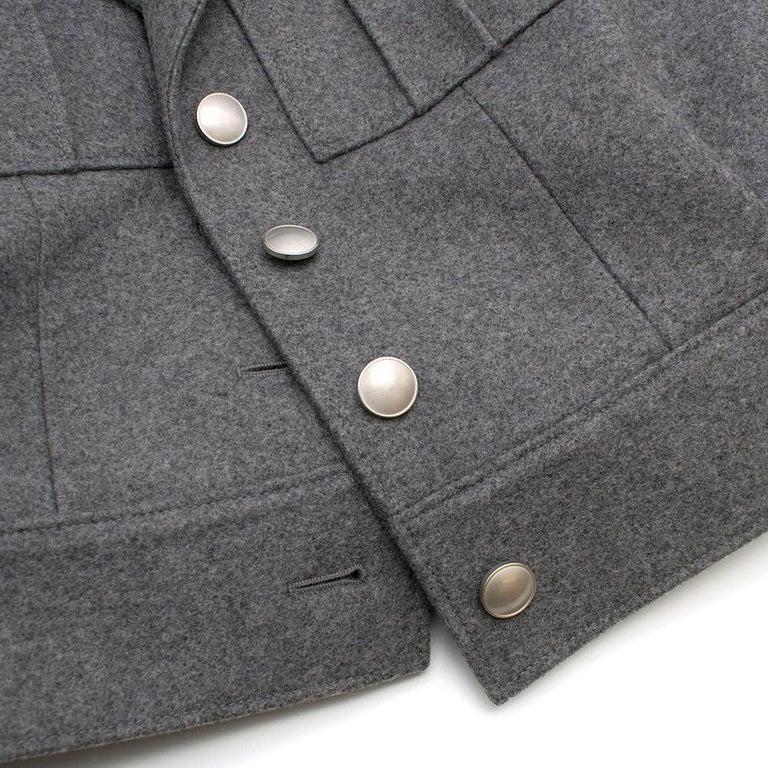 Prada Virgin Wool Single Breasted Wool Cape - New Season 36 UK4 For Sale 3