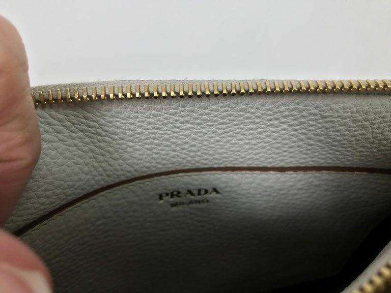 Women's or Men's Prada Vitello Daino Double Compartment Leather Crossbody Bag For Sale