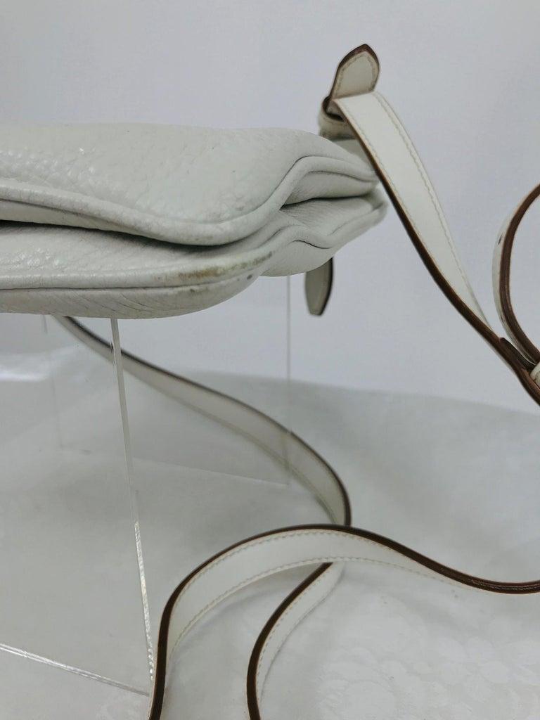 Prada Vitello Daino Double Compartment Leather Crossbody Bag For Sale 4