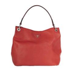 Prada Vitello Daino Hobo Red Leather Hobo bag