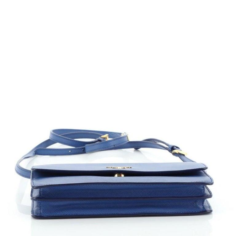 Women's or Men's Prada Wallet Crossbody Saffiano Leather For Sale