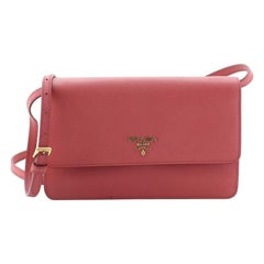 Prada Wallet Crossbody Saffiano Leather