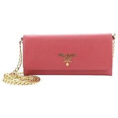 Prada Wallet on Chain Leather