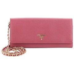 Prada Wallet on Chain Saffiano Leather
