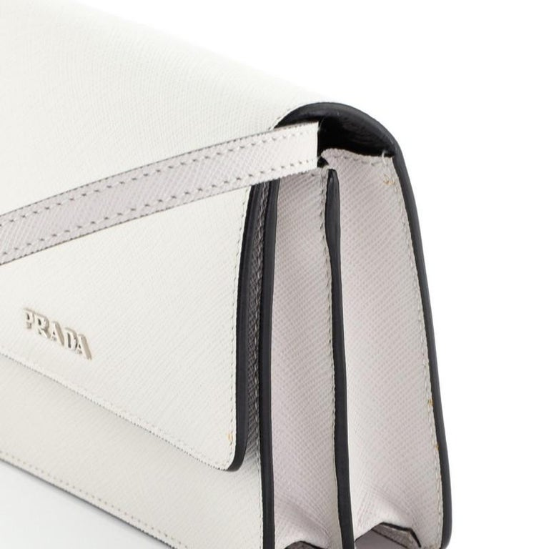 Prada Wallet On Strap Saffiano Leather Small  2