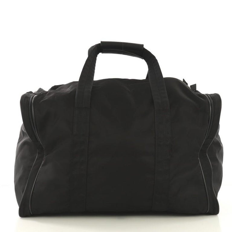 5219017c11c91b Black Prada Weekender Duffle Bag Tessuto Large For Sale