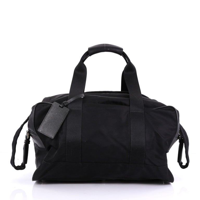 5145cc528362f5 Prada Weekender Duffle Bag Tessuto Large In Good Condition For Sale In New  York, NY