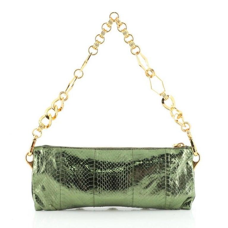 Prada Whips Pietre Shoulder Bag Embelished Snakeskin Medium In Good Condition For Sale In New York, NY